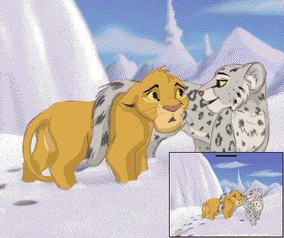Preview of the theme «Simba in the Snow Lands»