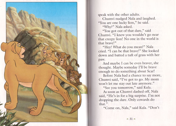 Nala S Dare The Lion King Six New Adventures Categories Library Snow Lands