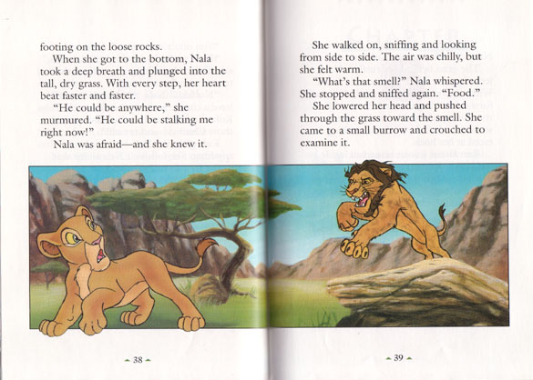 Nala S Dare The Lion King Categories Library Snow Lands